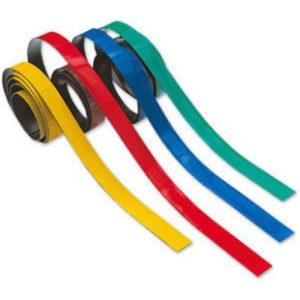 Magneettinauha värillinen lev. 10 mm, pituus 60 cm/4 kpl setti
