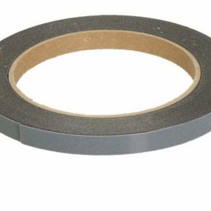 Valkotaulun ruudutusteippi PVC 9 mm, pituus 33 m, musta